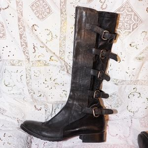 Barney's New York size 7 stretch moto boots